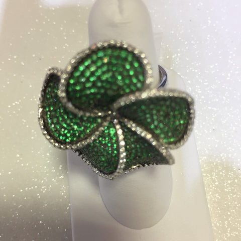 Flower Power Emerald Ring