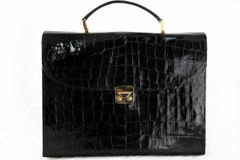 Mens Alligator Attache Bag