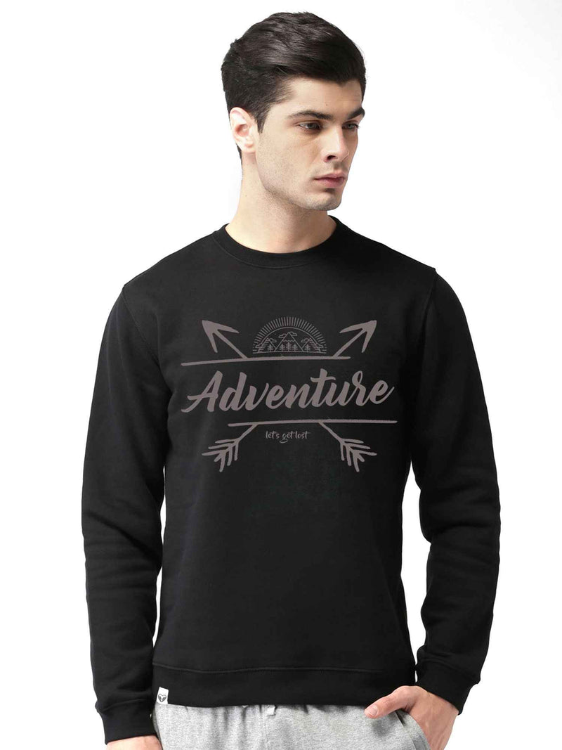 Adventure Graphics Printed Round Neck Sweatshirt - bluehaat