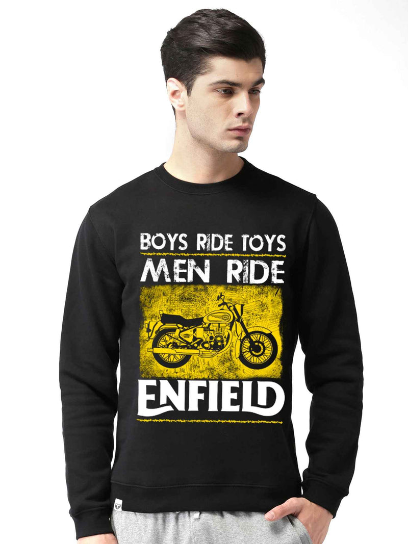 Royal Enfield Bullet Graphics Printed Round Neck Sweatshirt - bluehaat