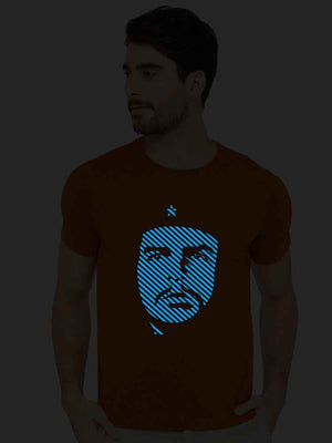 Glow In Dark Che Guevara Half Tshirt - bluehaat
