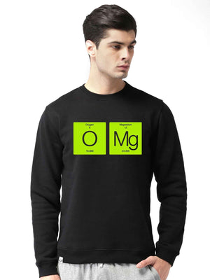 Oxygen Magnesium Graphics Printed Round Neck Sweatshirt - bluehaat
