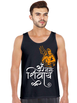 Om Namah Shivay Graphics Tank Top - bluehaat