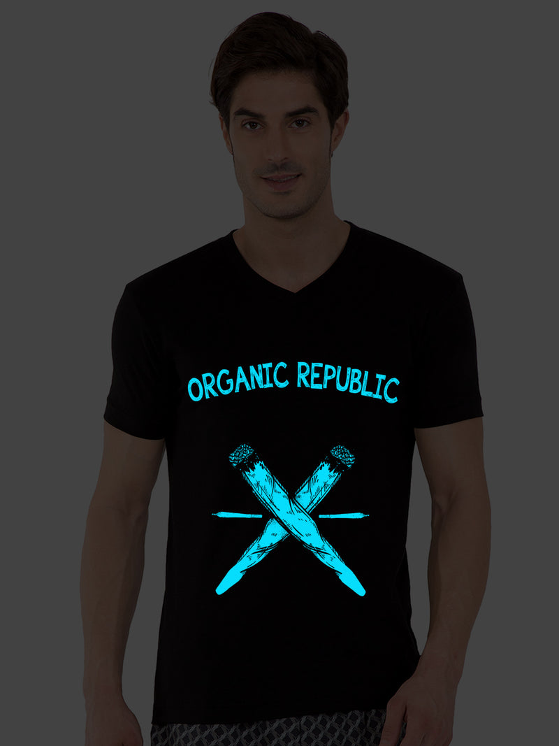 GID Organic Republic Half Tshirt - bluehaat