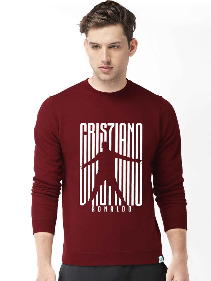 Ronaldo Graphics Printed Round Neck Sweatshirt - bluehaat