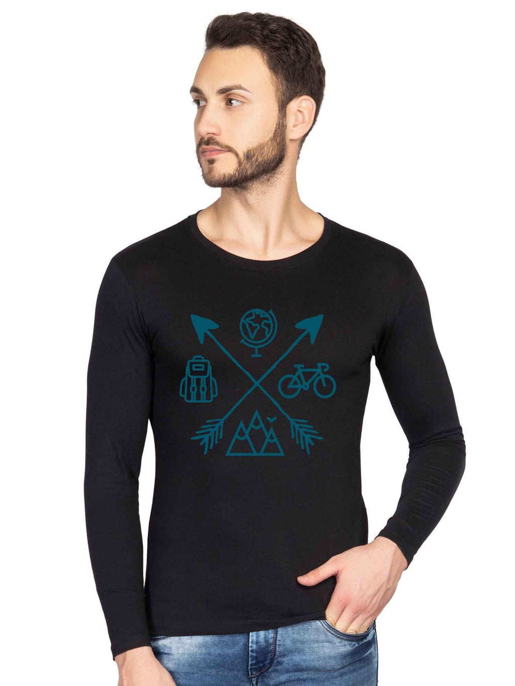 Travel Icon Graphics Full Tshirt - bluehaat