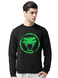 Glow In Dark Viper Snake Graphics Printed Sweatshirt - bluehaat