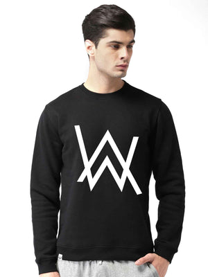 Glow In Dark Alan Walker Graphics Printed Round Neck Sweatshirt - bluehaat