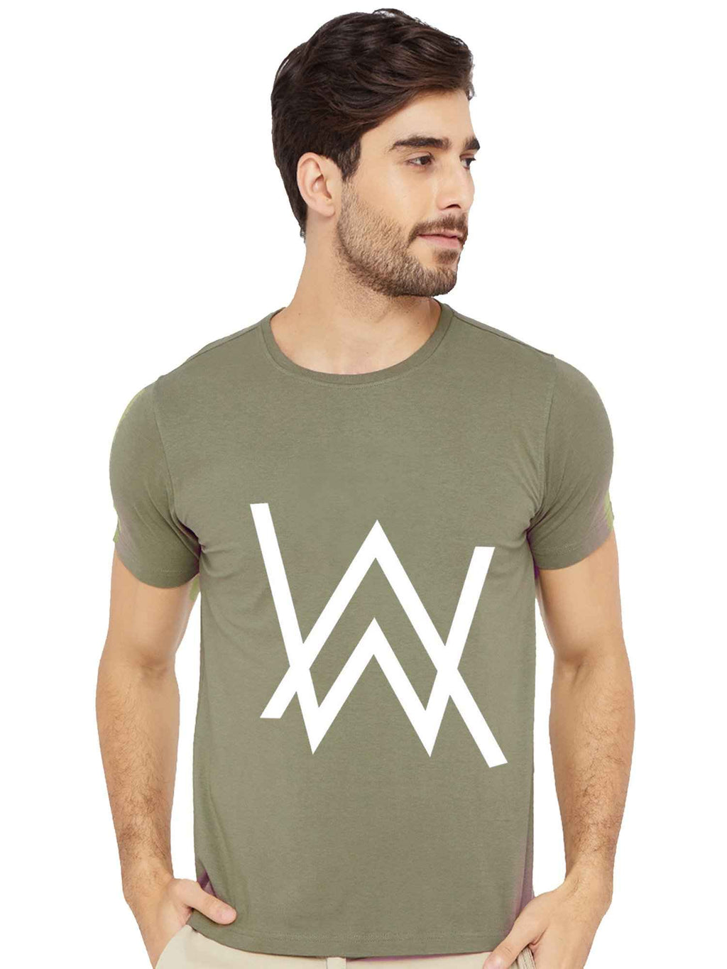 Glow In Dark Alan Walker Logo Half Sleeve Tshirt - bluehaat