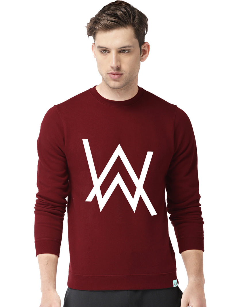 Glow In Dark Alan Walker Graphics Printed Round Neck Sweatshirt