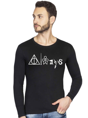 Glow In Dark Always Harry Potter Graphics Printed Full Tshirt - bluehaat