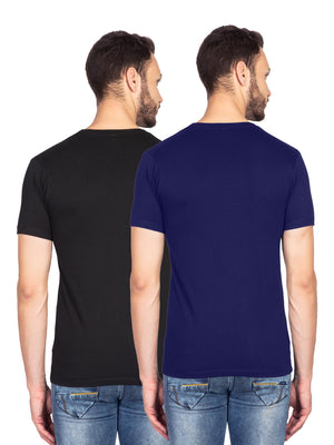 Hitman And King Kohli Graphics Half Tshirt Combo - bluehaat