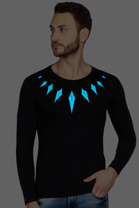Glow In Dark Black Panther Full Sleeve Tshirt - bluehaat