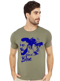 I Bleed Blue Indian Cricket Half Tshirt - bluehaat