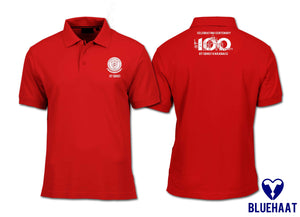 IIT(BHU) Centenary Celebrations 100 years Unisex Red Polo - bluehaat