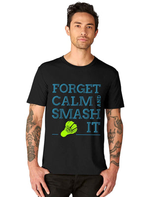 Smash It Badminton Shuttlecock Funny Quotes HalfT shirt - bluehaat