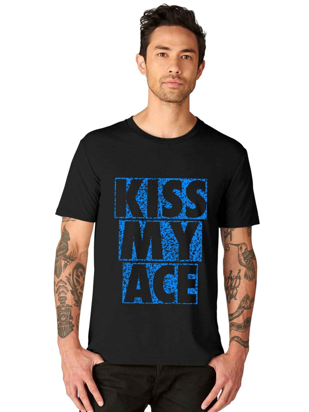Tennis Love Kiss My Ace Funny Quote Half Tshirt - bluehaat