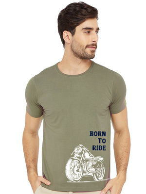 GID Born To Ride Half Tshirt - bluehaat