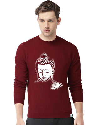 Lord Buddha Graphics Printed Round Neck Sweatshirt - bluehaat
