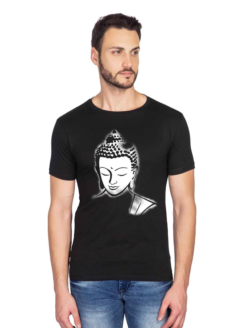 Lord Buddha Graphic Half Tshirt - bluehaat
