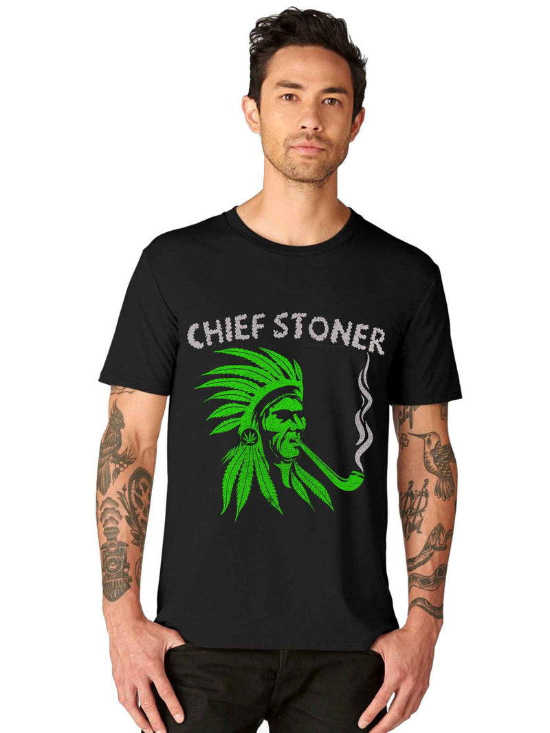 GID Chief Stoner Half Tshirt - bluehaat
