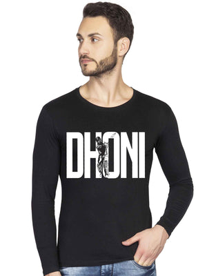MS Dhoni printed Full T shirt - bluehaat