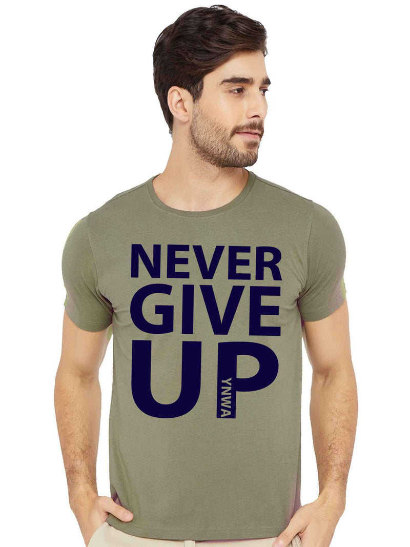 Never Give Up Half Tshirt - bluehaat