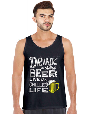 Drink Chilled Budweiser Beer Graphics Tank Top - bluehaat