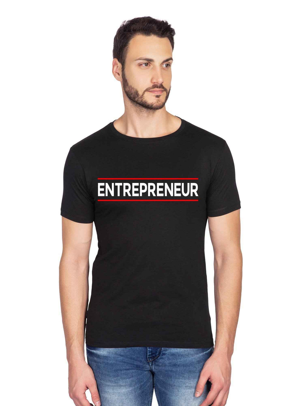 Entrepreneur Graphics Startup Half T shirt - bluehaat