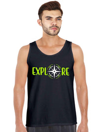 Glow In dark Explore The World more with Compass Tank Top - bluehaat