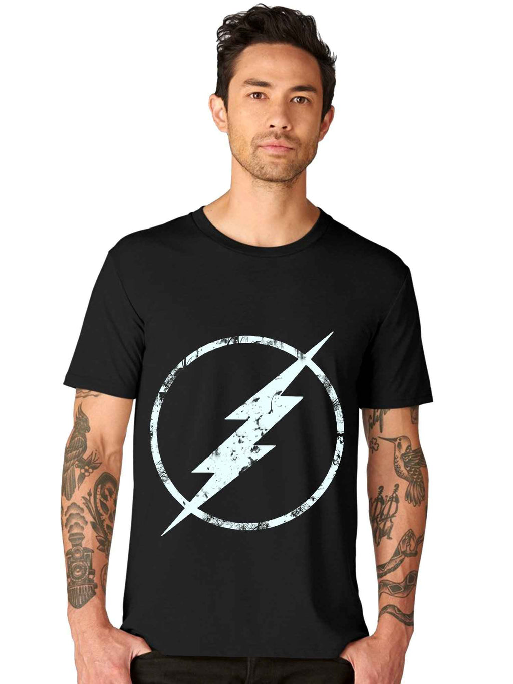 Glow in Dark Flash Half T shirt - bluehaat