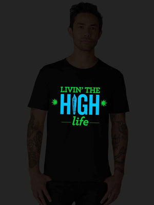 Glow In Dark Living High Life with Weed Tank Top - bluehaat