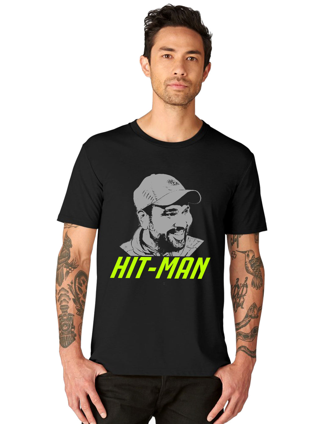Hitman Sharma Graphics Half Tshirt - bluehaat