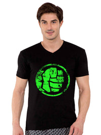 Hulk V-Neck Half Tshirt - bluehaat