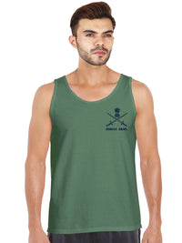 Official Indian Army Olive Green Sleeveless T shirt by bluehaat