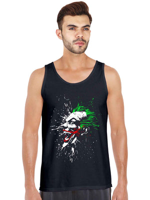 Glow In dark Joker printed full sleeveless t shirt for men