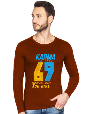 Karma 69 Graphics Printed Full Tshirt - bluehaat