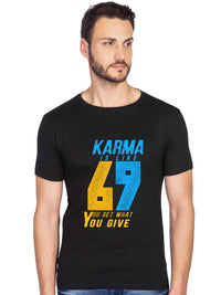 Karma 69 Graphics Printed Half Tshirt - bluehaat