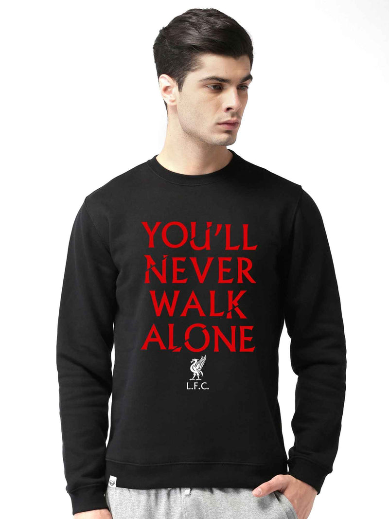 Liverpool Graphics Printed Round Neck Sweatshirt - bluehaat