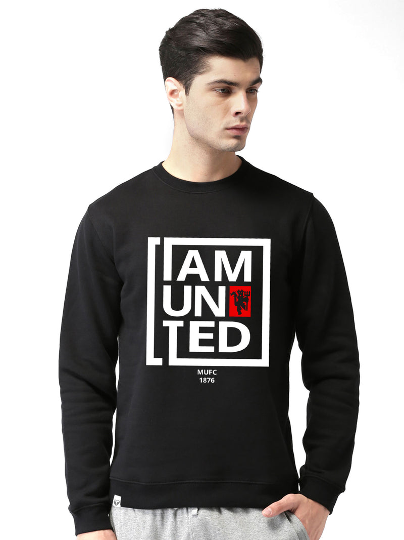 Manchester United Graphics Printed Round Neck Sweatshirt - bluehaat