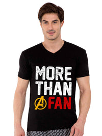 More Than A Fan V-neck Half Tshirt - bluehaat