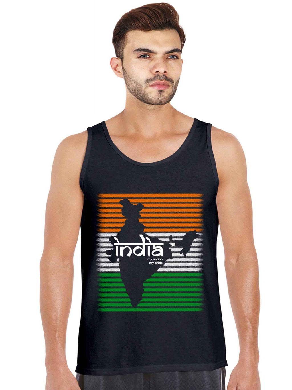 India My Pride Independence Day Graphics Printed Tank Top - bluehaat