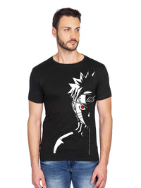 GID Naruto Graphics Half Tshirt - bluehaat