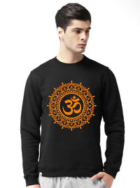 Om Mandala Graphics Printed Round Neck Sweatshirt - bluehaat