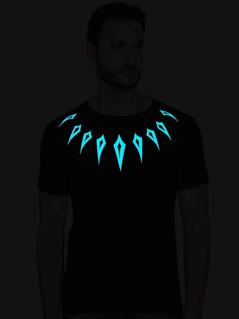 GID Black Panther Half Tshirt - bluehaat