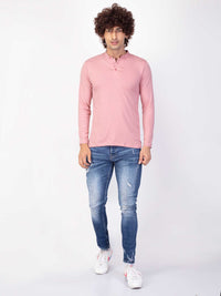 Men's Kurta Style Peony Full Sleeve T-shirt