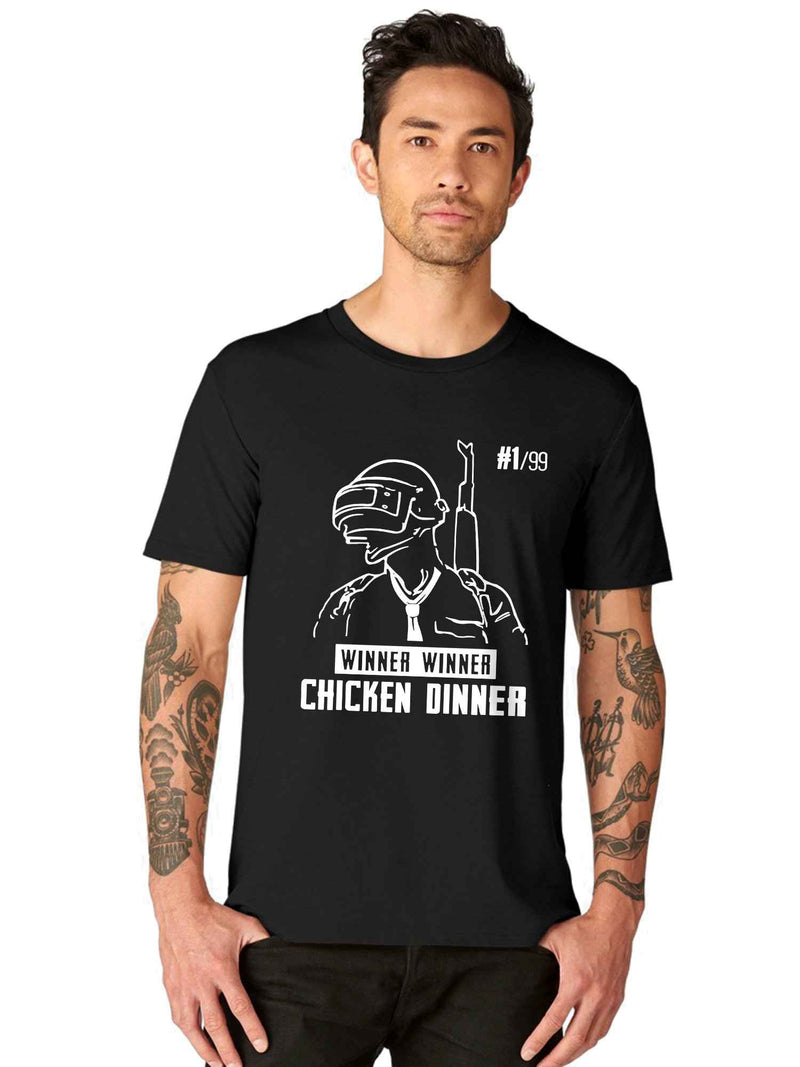PUBG Winner Winner Chicken Dinner Half Tshirt - bluehaat