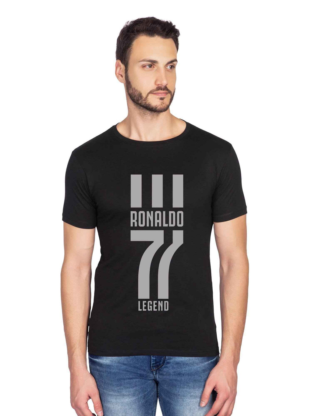 Legend Ronaldo Graphics Half Tshirt - bluehaat