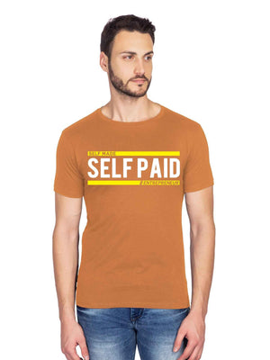 Self Made Self Paid Graphics Half Tshirt - bluehaat