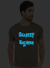 Glow In Dark Mr Shareef Bachpan Se Hindi Funny Quote Tank Tops